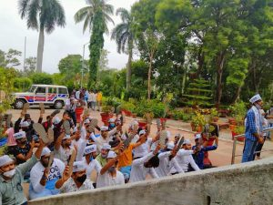 CYSS Showing Slippers in Hand in VNSGU of Surat-suratheadlines