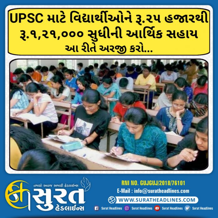Financial Assistance to Scheduled Tribe Students of UPSC-suratheadlines
